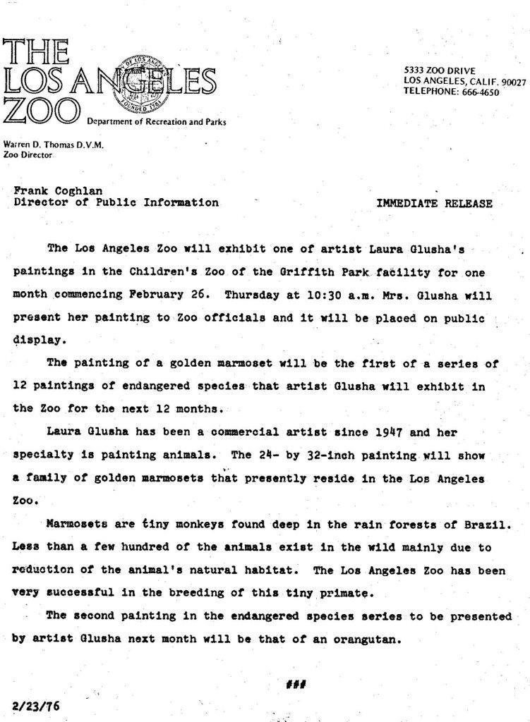Press Release: Frank Coghlan, Director of Public Information, 23 February 1976